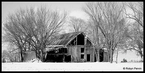 Winter Poster featuring the photograph Silent Barn In The Winter by Robyn Pervin