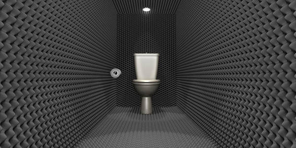 Toilet Poster featuring the digital art Soundproof Toilet Cubicle by Allan Swart