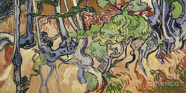 Landscape Poster featuring the painting Tree Roots by Vincent Van Gogh