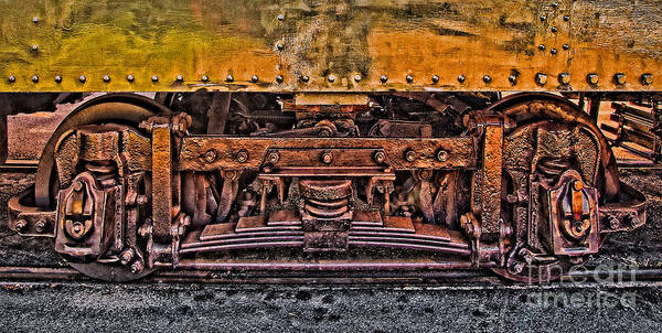 Trolley Poster featuring the photograph Trolley Train Details by Susan Candelario