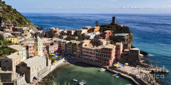 Cinque Terre Poster featuring the photograph Vernazza From Above by George Oze