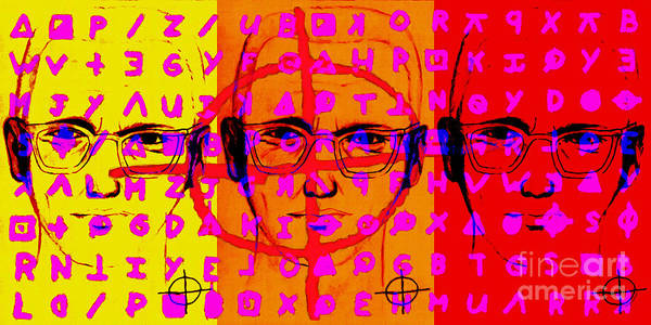 Zodiac Poster featuring the photograph Zodiac Killer Three With Code And Sign 20130213 by Wingsdomain Art and Photography