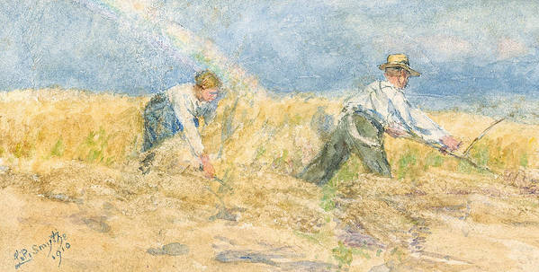 Harvest Poster featuring the painting Harvester by LP Smythe