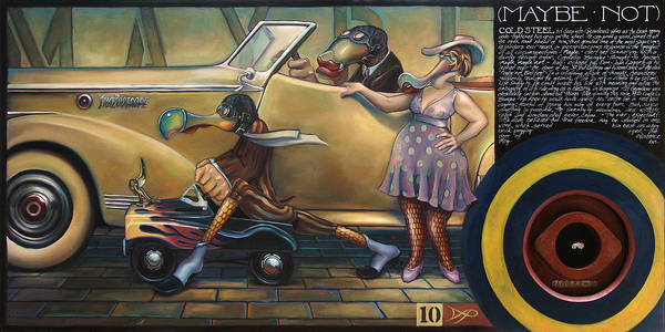 Automobile Poster featuring the painting Maybe Maybe Not by Patrick Anthony Pierson