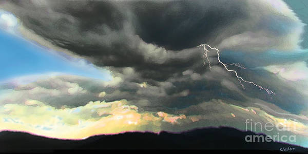 Cloud Poster featuring the digital art Passing Storm by David Klaboe