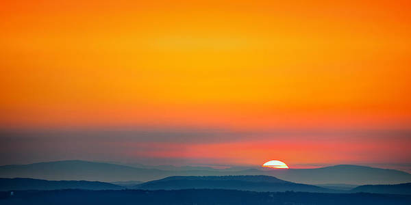 Mountains Poster featuring the photograph Smokie Sunrise by Steven Llorca