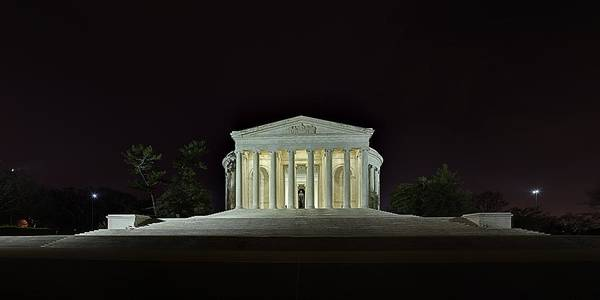 Metro Poster featuring the photograph The Lonely Tourist At Jefferson Memorial by Metro DC Photography