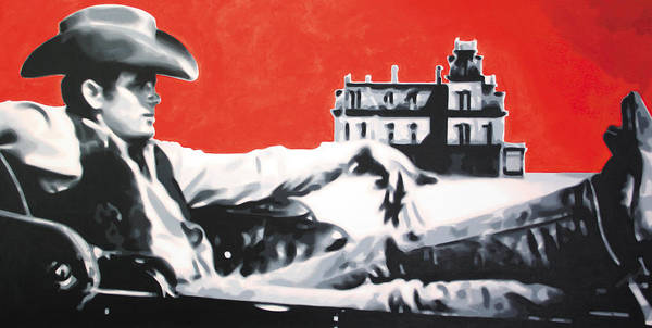 James Dean Poster featuring the painting - Giant - by Luis Ludzska