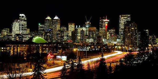 Calgary Poster featuring the photograph Calgary Skyline by John McArthur
