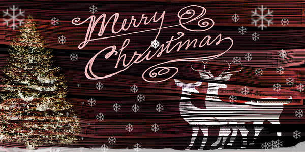 Digital Poster featuring the digital art Merry Christmas by April Cook