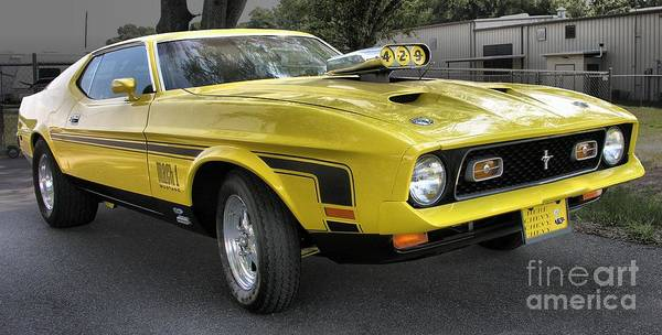 1972 Ford Mustang Mach 1 Poster By Richard Rizzo