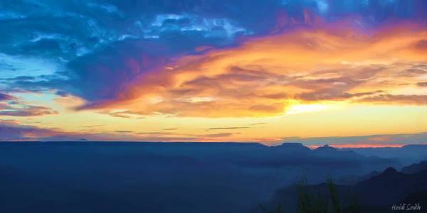 Grand Canyon Poster featuring the photograph Here Comes The Sun by Heidi Smith