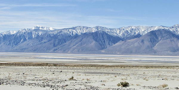 Lone Pine Poster featuring the photograph Owens Dry Lake by Marilyn Diaz