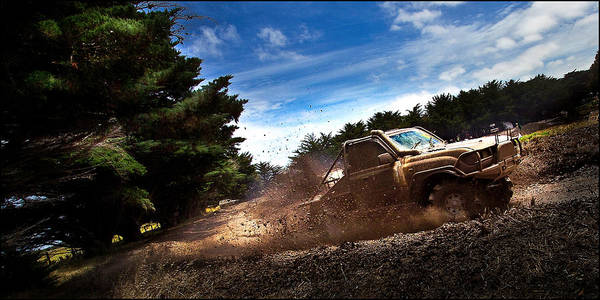 4x4 Poster featuring the photograph 4x4 Mudbash by Tim Nichols