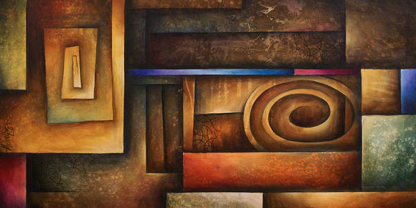 Art Poster featuring the painting Abstract Design 30 by Michael Lang