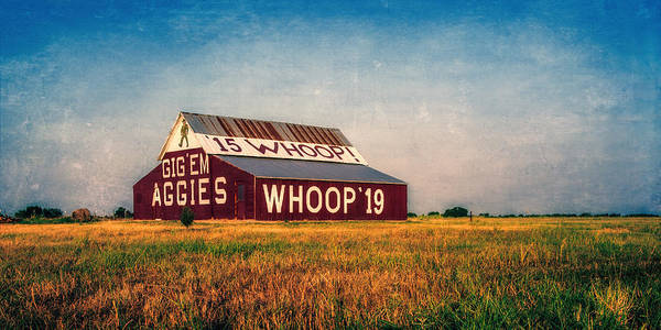 Joan Carroll Poster featuring the photograph Aggie Barn 2015 by Joan Carroll