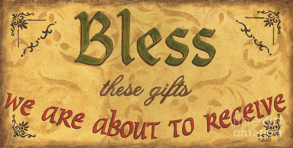 Gifts Poster featuring the painting Bless These Gifts by Debbie DeWitt