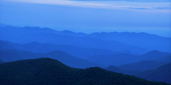 Blue Ridge Mountains Poster featuring the photograph Blue Ridge Panorama by Andrew Soundarajan