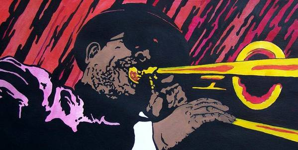 Jazz Poster featuring the painting Bone Daddy by Shane Hurd