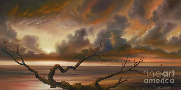 Ocean Poster featuring the painting Botany Bay by James Christopher Hill