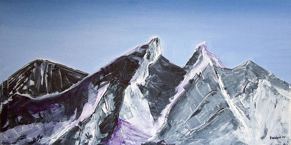Acrylic Landscape Painting Poster featuring the painting Cerro De La Silla Of Monterrey Mexico by Kandyce Waltensperger