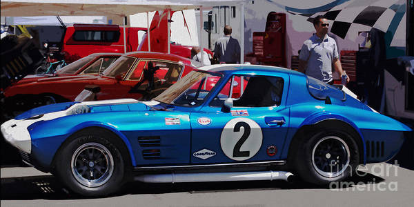 Corvette Poster featuring the photograph Corvette Grand Sport 1963 by Curt Johnson