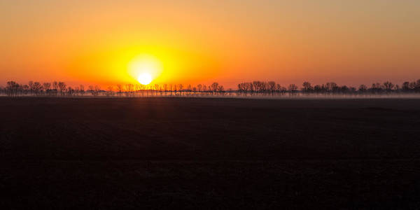 Sunrise Poster featuring the photograph Dakota Morning by Penny Meyers