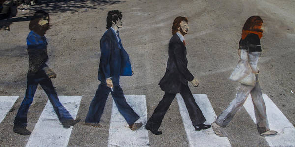 George Poster featuring the photograph Ghosts Of Abby Road by Debra and Dave Vanderlaan