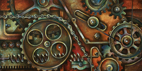 Mechanical Painting Poster featuring the painting Harmony by Michael Lang