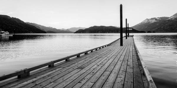 B&w Poster featuring the photograph Harrison Lake Pier, Bc by John McArthur