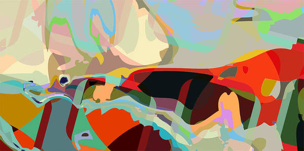 Abstract Poster featuring the digital art Jim 8 by Scott Davis