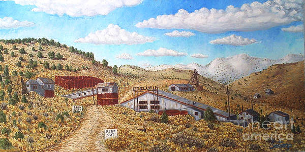 Landscape Poster featuring the painting Keep Out by Santiago Chavez