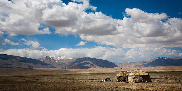 Landscape Poster featuring the photograph Kirgizian Jurts by Konstantin Dikovsky