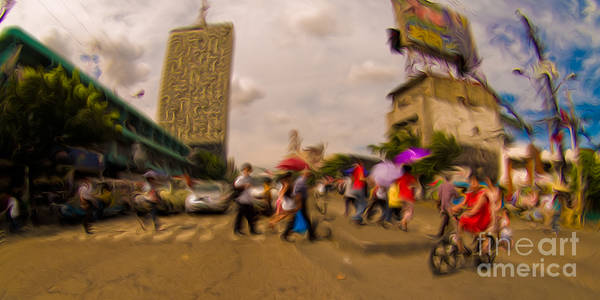 Manila Poster featuring the mixed media Manila Crosswalk 6292972 by Rolf Bertram