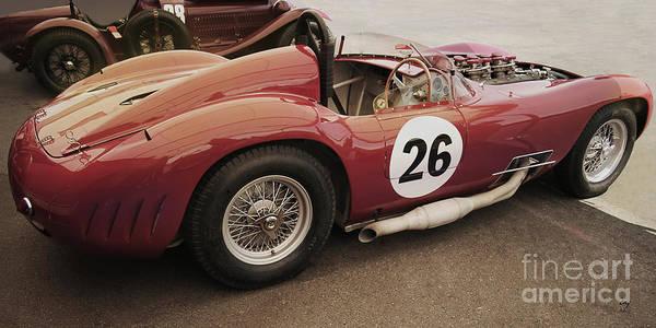 Maserati Poster featuring the photograph Maserati 450 S by Curt Johnson