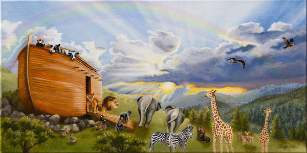 Noah's Ark Poster featuring the painting Noah's Ark by Cheryl Allen