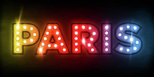 Paris Poster featuring the digital art Paris In Lights by Michael Tompsett