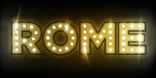 Rome Poster featuring the digital art Rome In Lights by Michael Tompsett