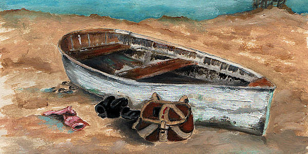 Boat Poster featuring the painting Solitary by Penny Everhart