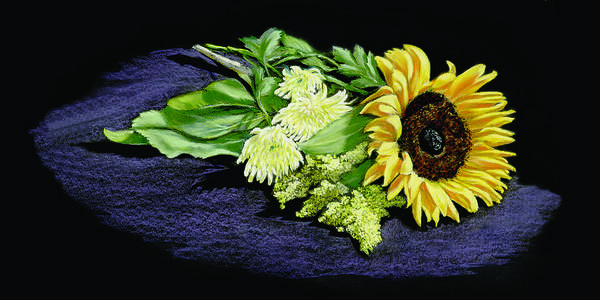 Sunflower; Plant; Yellow; Flower; Flowers Sunflower; Plant; Yellow; Flower; Flowers; Claster; Basal; Leave; Leaves; Oblong; Central Venien; Leaflets; Toothed Leaflets; Long; Woolly; Hairs; Woolly Hairs; Head; Flower Head; Stem; Leafless; Grows; Wet; Wetter; Area; Balsamroot; Balsamorhiza Incana; Hoary Balsamroot; Asteraseae; Sunflower Tribe; Late Spring; Spring; Perennial; Meadow Photographs Poster featuring the painting Sunflower by Vanda Luddy