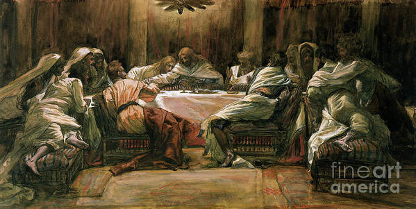 The Last Supper Poster featuring the painting The Last Supper by Tissot