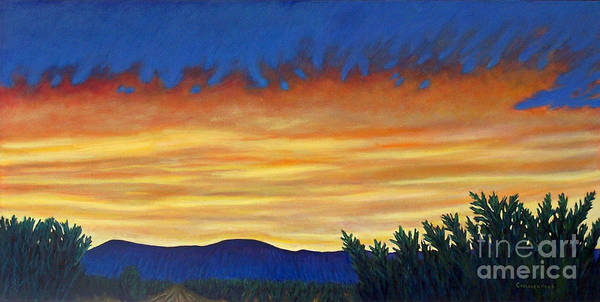 Sunset Poster featuring the painting Winter Sunset In El Dorado by Brian Commerford
