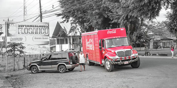 Costa Poster featuring the photograph Costa Rica Soda Truck by Betsy Knapp