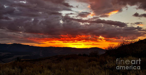 Sunset Poster featuring the photograph Back Country Sunset by Robert Bales