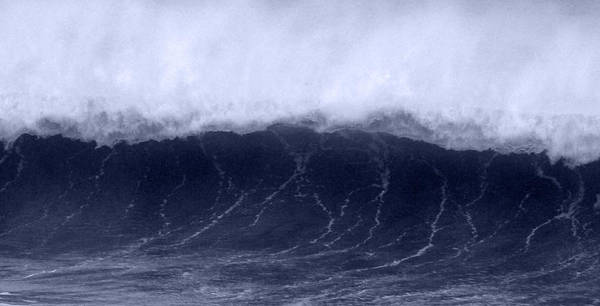 Storm Poster featuring the photograph Cresting Wave by Scott Lenhart