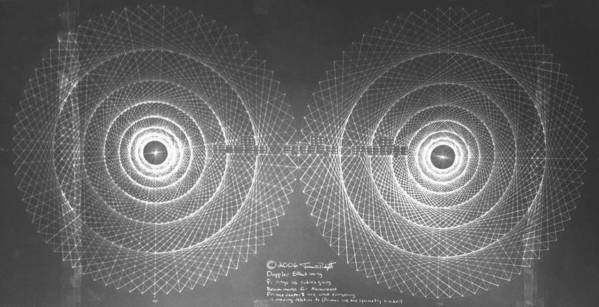 Doppler Poster featuring the drawing Doppler Effect Parallel Universes by Jason Padgett