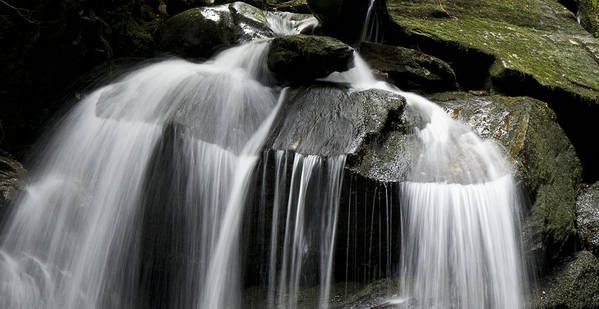 Waterfall Poster featuring the photograph Fluke Fall by Gary Eason