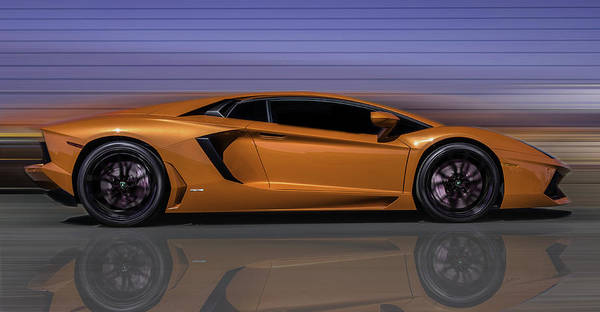 Lamborghini Aventador Orange >> Lamborghini Aventador Orange Poster