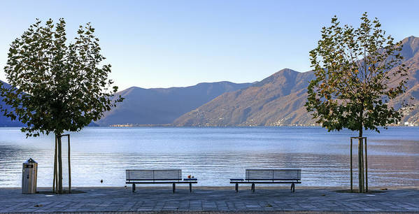 Plane Poster featuring the photograph Lake Maggiore by Joana Kruse