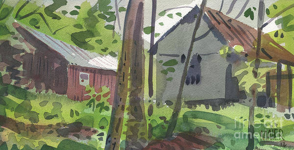 Barn Poster featuring the painting Barns 12 by Donald Maier